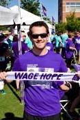 Devon Blake of the Der Lab showing Purple Pride