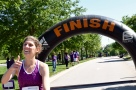 Dr. Bryant finishing the race