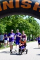 Dr. Bryant and her brothers striding in memory of their father.